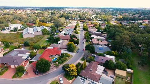 aerial view of a suburb in south Australia, lifestyle living in adelaide