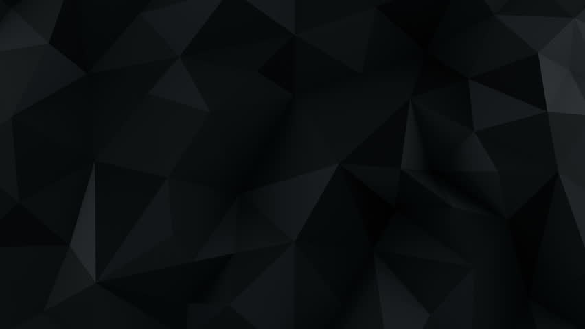 Chaotic black low poly surface waving. Computer generated seamless loop abstract motion background. 3D render animation 4k UHD (3840x2160)