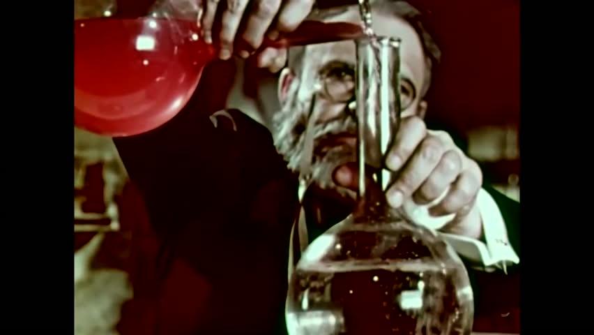1950s: Dramatic re-enactments of historic bacteriologists Van Leeuwenhoek, Pasteur and Koch