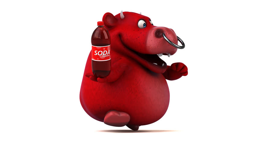 Fun red bull - 3D Animation | Shutterstock HD Video #26886847
