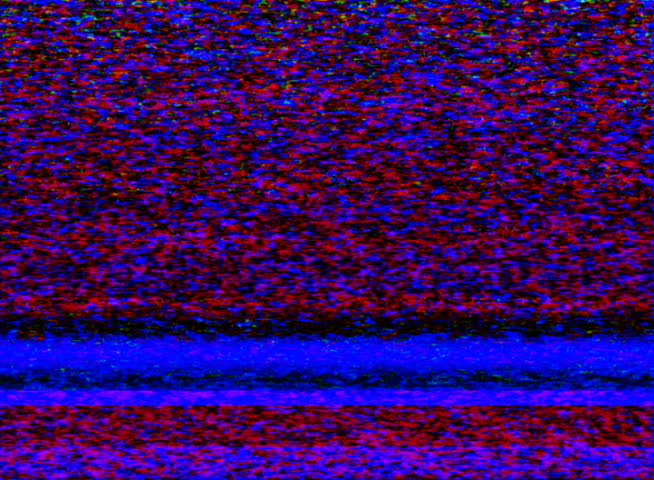 PAL - Colorful TV Noise and TV Static fill the screen (Loop).