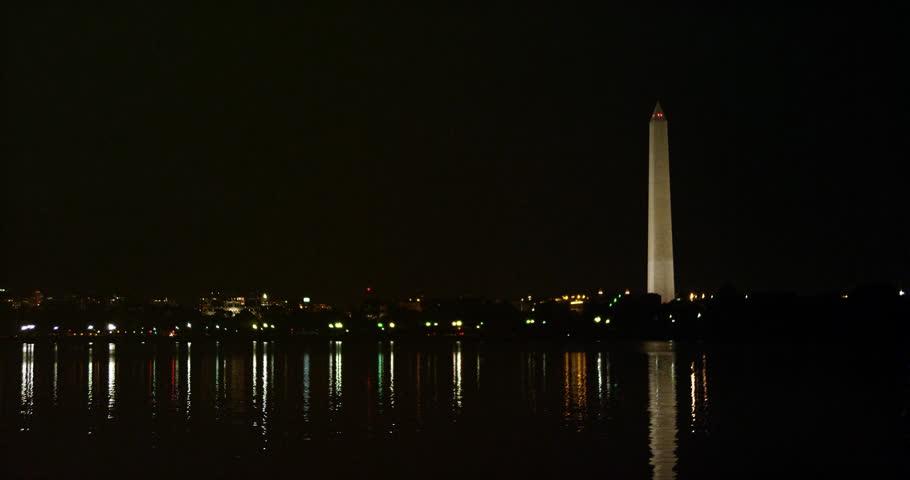 Washington Monument at night. Shot in 2012.