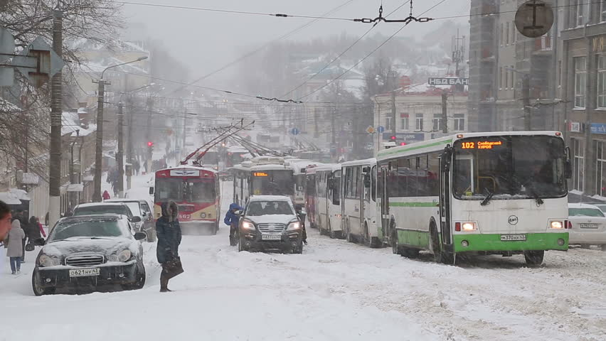 New york january 26 2015 snowing with mta public bus in heavy snowfall in russia on 20 april 2017 hd stock video clip sciox Images