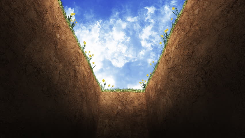 POV of being lowered into a Grave  1080 HD video | Shutterstock HD Video #2695613