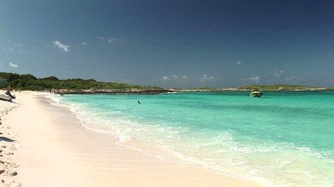 SINT MAARTEN - Circa 2008: Scenic Anquila Beach in Sint Maarten
