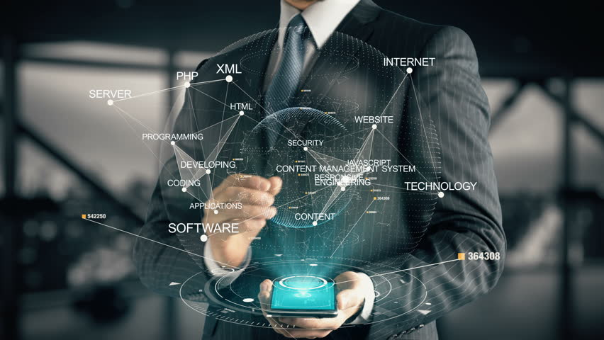 Businessman with Content Management System hologram concept | Shutterstock HD Video #27061267