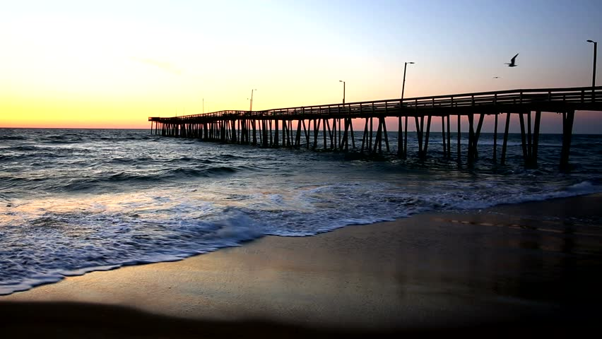Rudee Inlet Fishing Pier In Virginia Beach Virginia