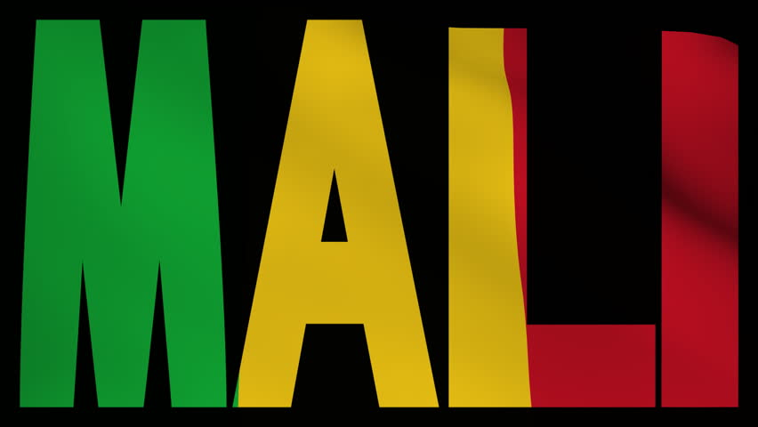 Mali Text With Fluttering Flag Animation Stock Footage Video - Mali flags