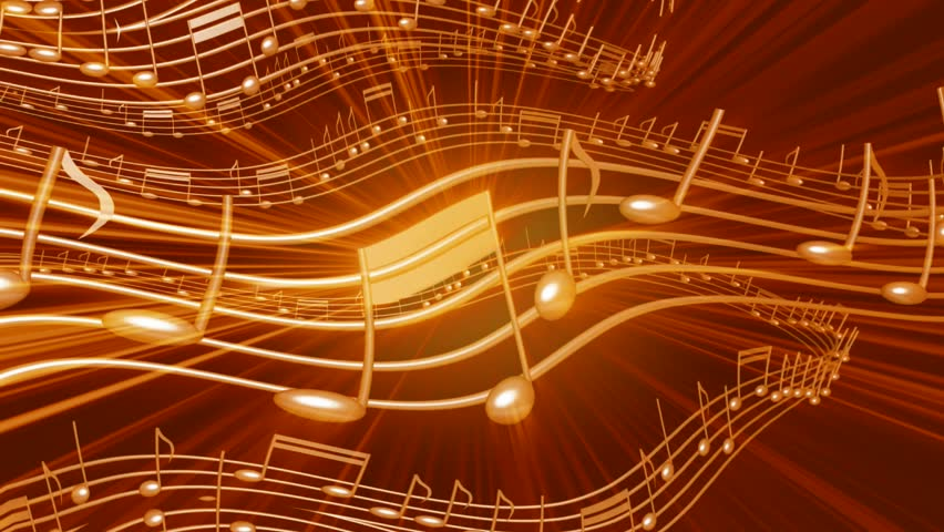 Abstract Art Music Notes Background 1 Hd Wallpapers: Music Notes Background In Gold. Abstract Background With