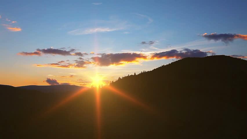 mountain landscape. sunset.