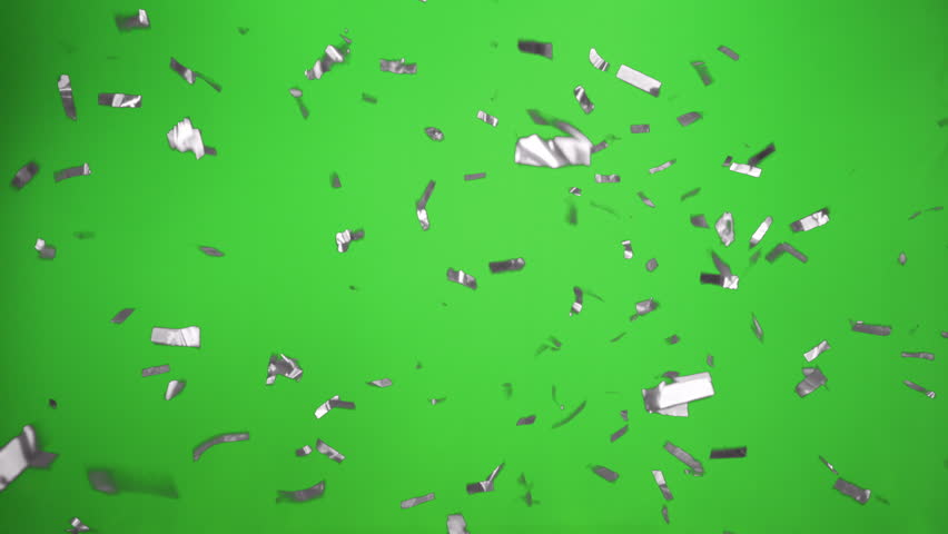 Confetti Falling Beautiful In silver  With Green Screen for Boy  for Birthday Party or wedding Party | Shutterstock HD Video #27133387