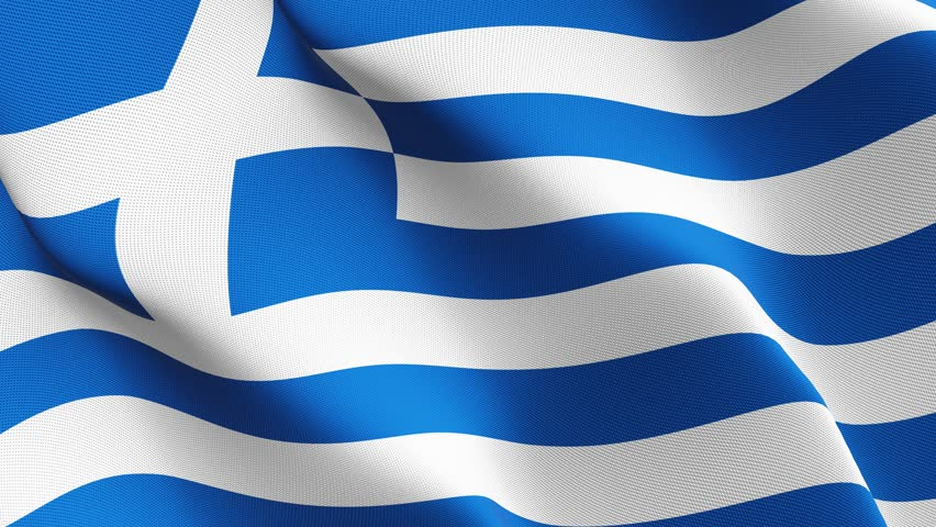 waving flag of greece stock footage video 2349629