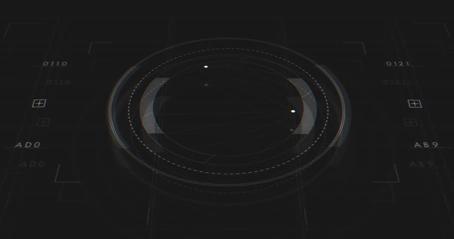 Abstract Digital Animation User Interface HUD   Shutterstock HD Video #27214987