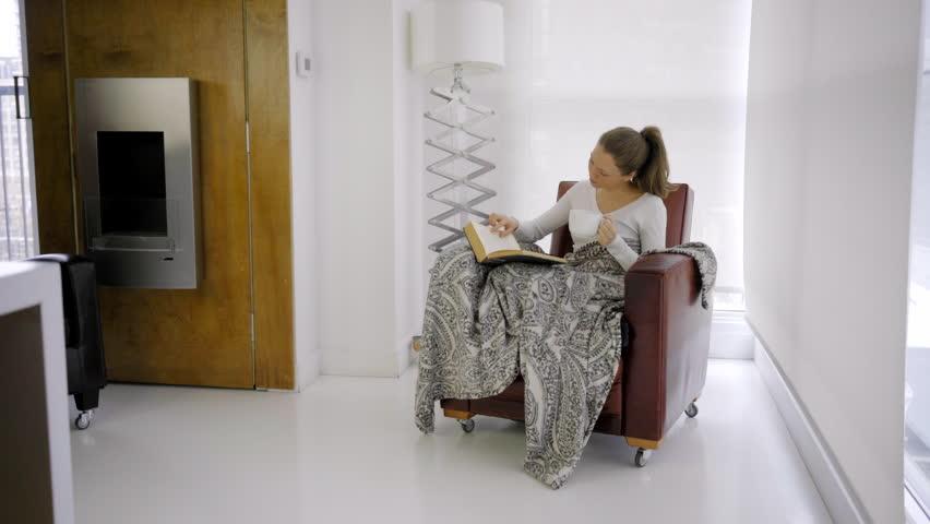 Caucasian woman indoor modern house city lifestyle technology   Shutterstock HD Video #27216817