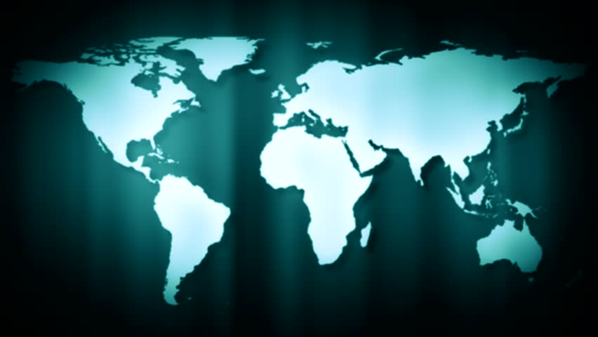 Abstract cgi motion graphics and animated background with spinning world map hd stock footage clip gumiabroncs Gallery
