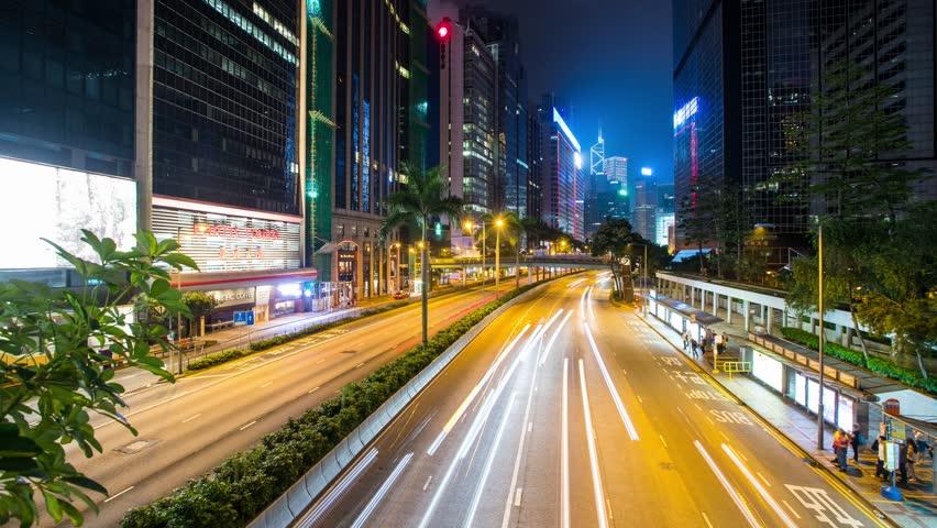 Wan Chai, Hong Kong, 27 May 2017  :Time Lapse Of Hong Kong
