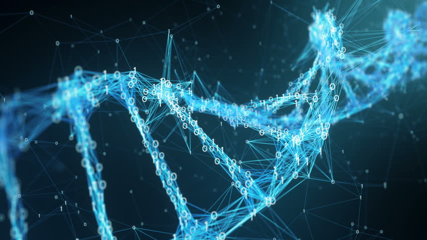 Abstract representation of digital binary plexus DNA molecule . For visuals, biology, biotechnology, chemistry, science, Medicine, cosmetics or as motion background. Seamless Loop. | Shutterstock HD Video #27434407