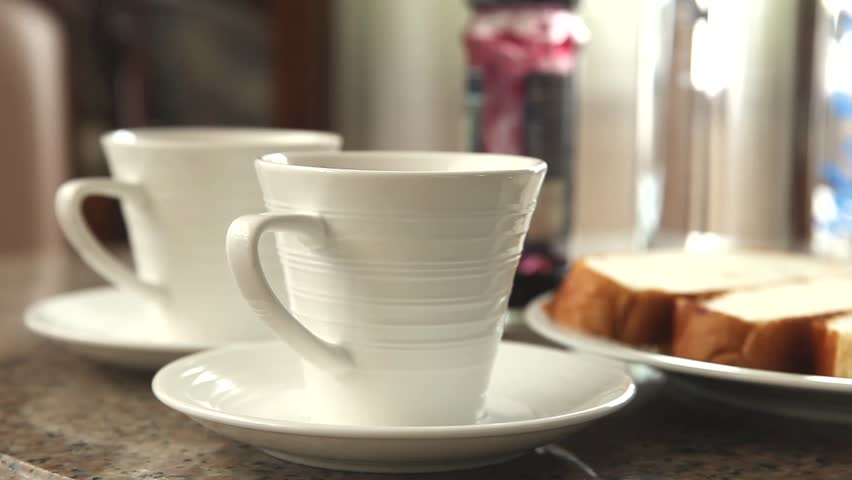 Snacks, Hot cocoa and bread  | Shutterstock HD Video #27435847