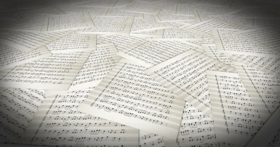 Musical Sheet travelling loop | Shutterstock HD Video #27444847