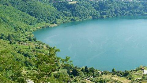 Albano Lake view from Nemi Lazio Italy