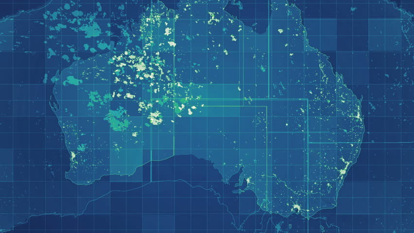 Australia Map Grid.4k00 15green Australia Map Network Animated Map With Grid