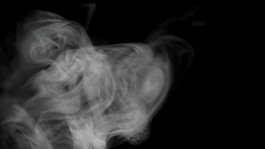 Slow motion , white cloud of cigarette smoke on black isolated background | Shutterstock HD Video #27542248