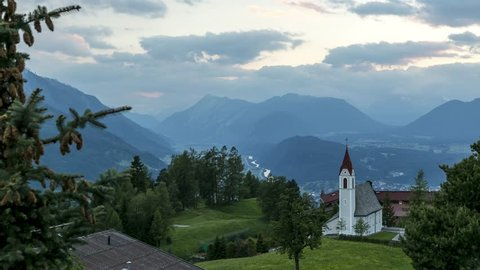 4K Timelapse Church by day A little place of happiness at Mosern Tyrol Austria