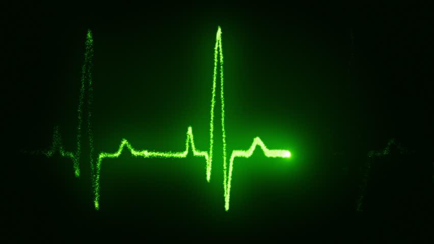 Heart beat pulse in green | Shutterstock HD Video #2757719