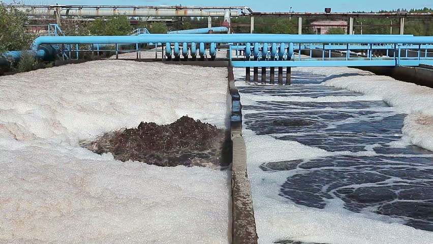 Water purification in settlers on industrial sewage treatment plant