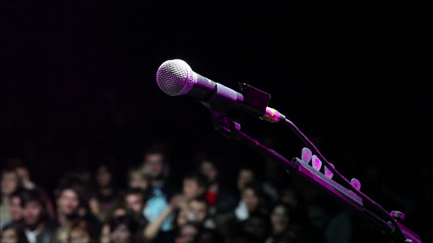 Microphone on stage  | Shutterstock HD Video #2768567