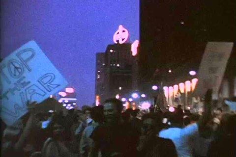 1960s: Demonstrators protest the Vietnam War and President John Kennedy speaks, in the 1960s.