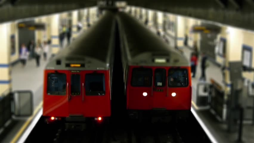 London Underground Trains Tilt Shift