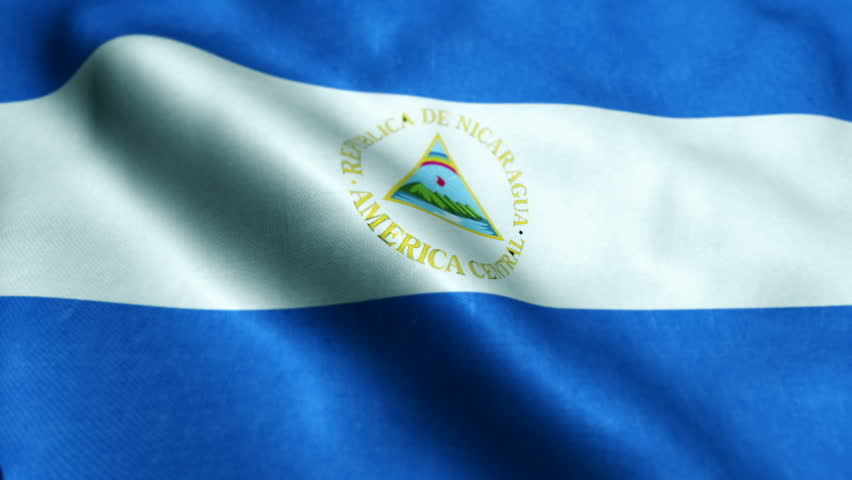 Flag of Nicaragua Beautiful 3d animation of the Nicaragua flag in loop mode | Shutterstock HD Video #27863470