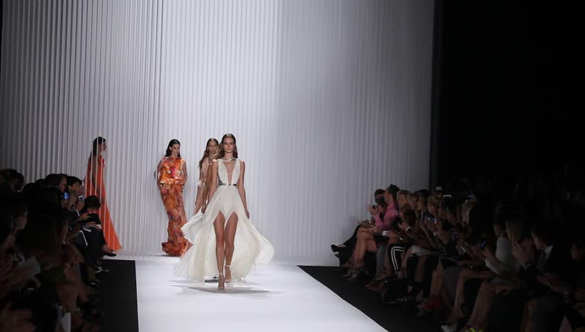 NEW YORK - SEPTEMBER 12: Models walk the runway for J. Mendel Collection by Gilles Mendel during Spring/Summer 2013 at Mercedes-Benz Fashion Week on September 12, 2012 in New York.
