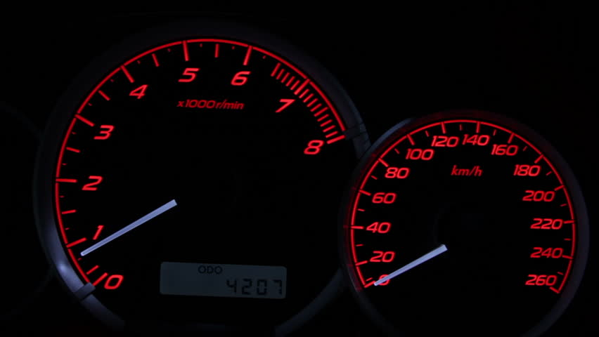 Revving Speedometer and Tachometer Stock Footage Video (100% Royalty-free)  2793367 | Shutterstock