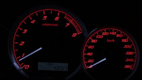 Revving Speedometer and Tachometer