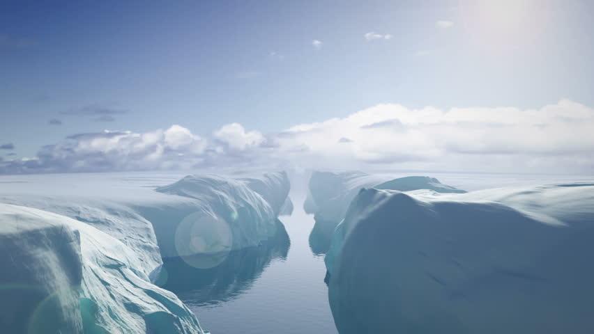 Flying Between Glaciers | Shutterstock HD Video #27949327