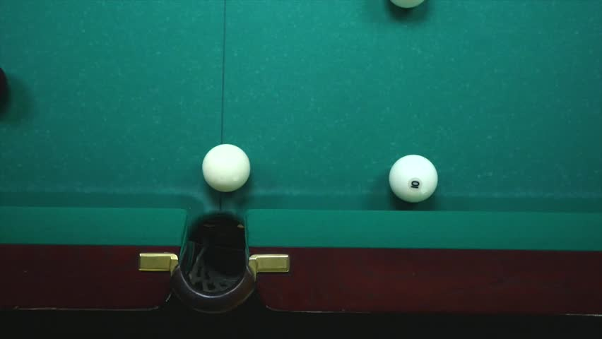 Sports game of billiards. Billiard ball rolls on the table. | Shutterstock HD Video #27974167