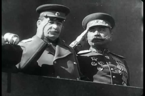 As servicemen and civilians celebrate V Day, General Secretary of the Communist Party of the Soviet Union Joseph Stalin has his troops march and move into other areas, in the post-World War 2 era.
