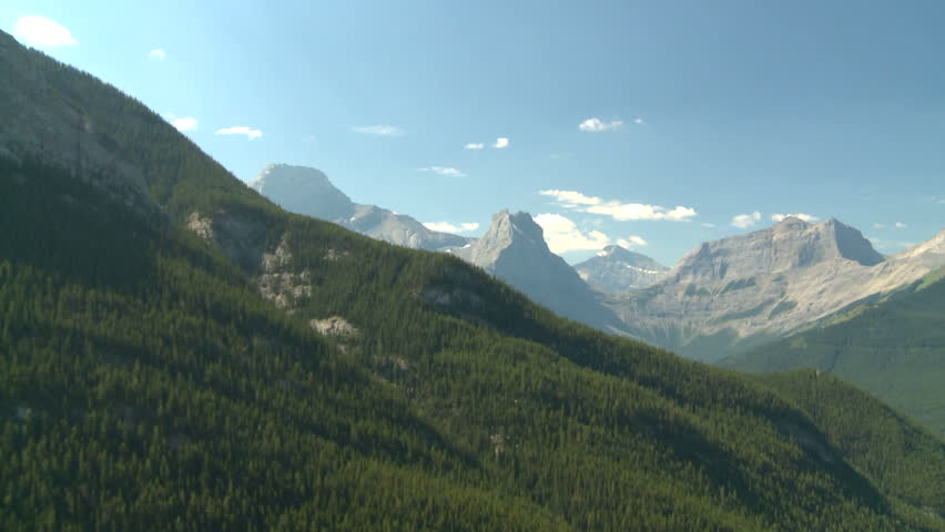 aerial Rocky Mountains (HD 1920x1080 60i)