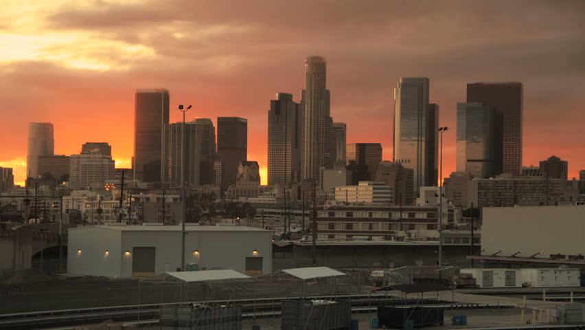 Skyscraper Sunrise in Big City Downtown Time lapse | Shutterstock HD Video #2808451