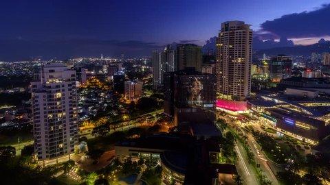 Cebu City Time-lapse Sunset - Day to Night