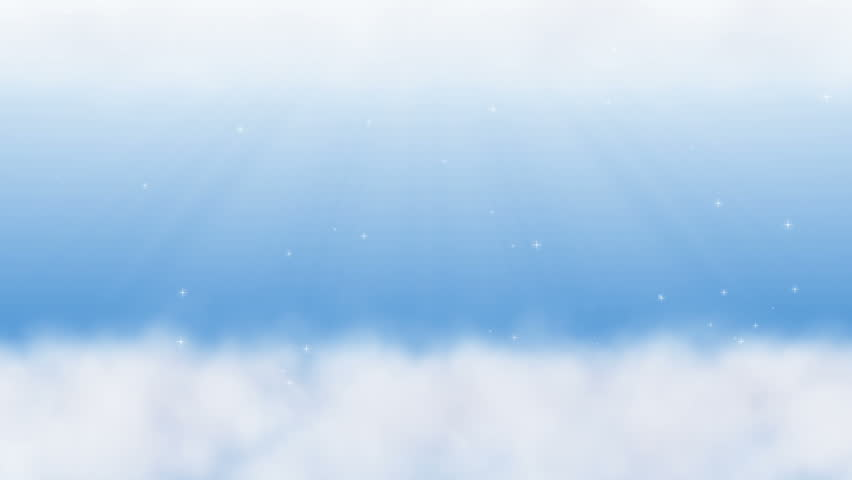 Animation of  Sky With Clouds and Starlight.  Seamless Loops.