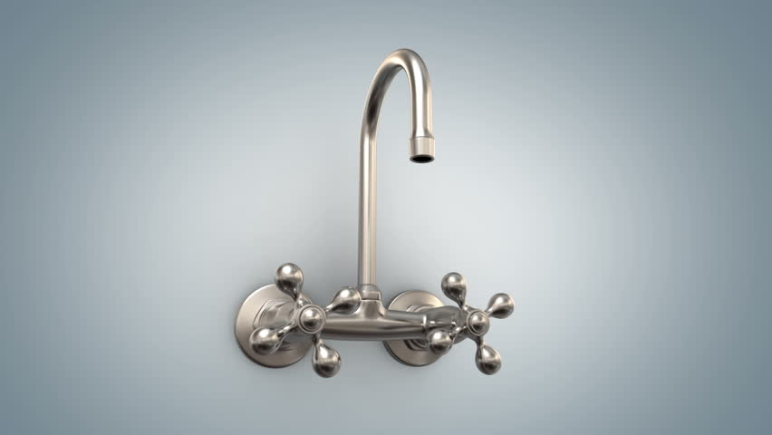 Faucet with no water - 3d animation