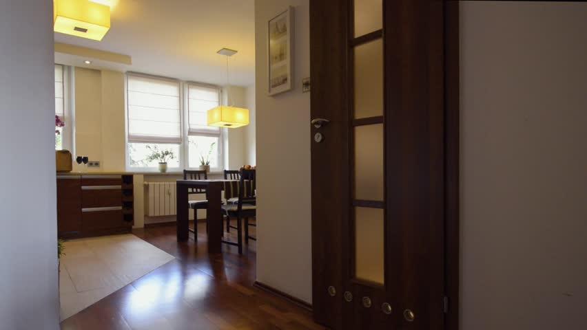 Modern kitchen interior design in bronze color  | Shutterstock HD Video #2829505