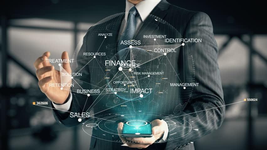 Businessman with Risk Management hologram concept | Shutterstock HD Video #28336096