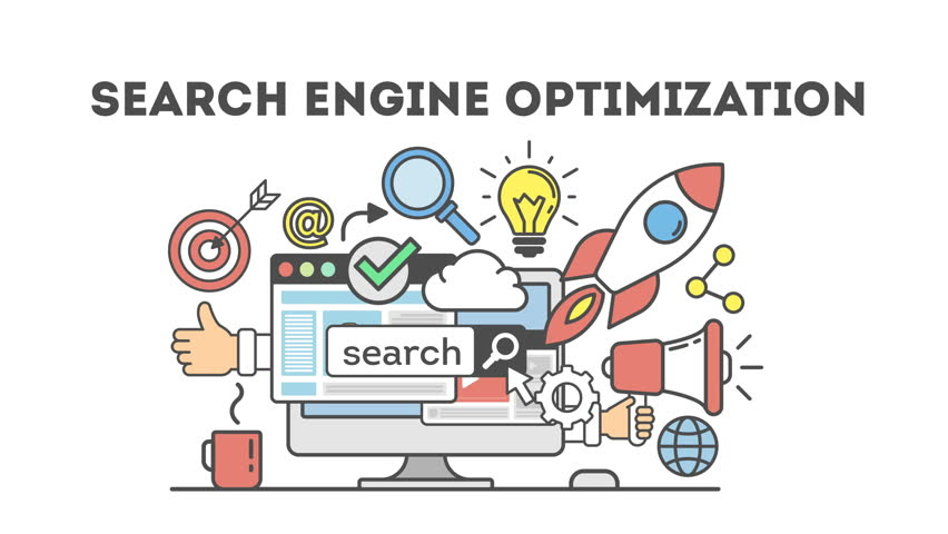 concept seo optimization in search engine.