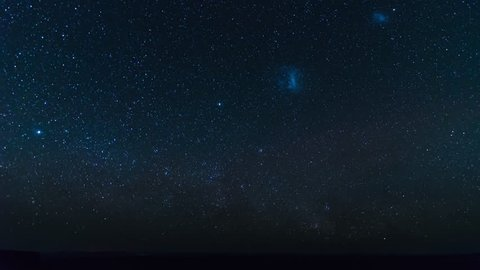 Time lapse of milky way over fish river canyon in Namibia
