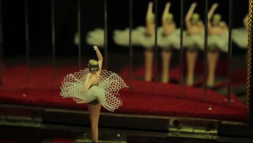 Antique Music Box with Ballerina