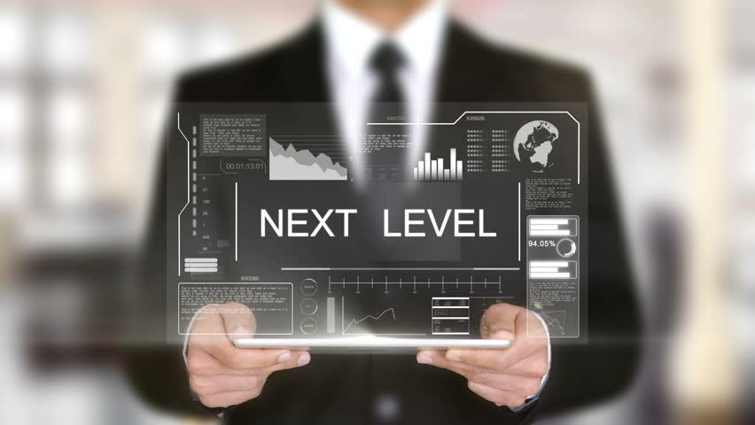 Next Level, Hologram Futuristic Interface, Augmented Virtual Reality